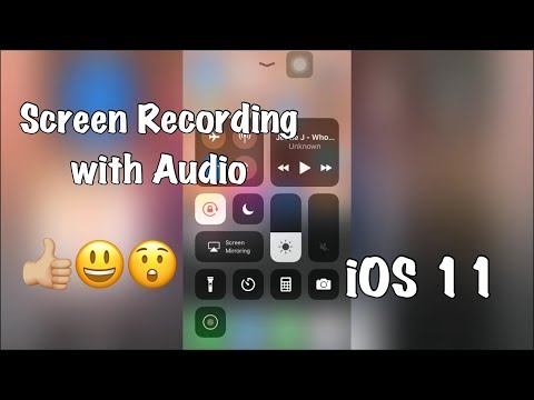 How to use SCREEN RECORDING with AUDIO/ sound feature in iOS 11? / Enable Screen Recording