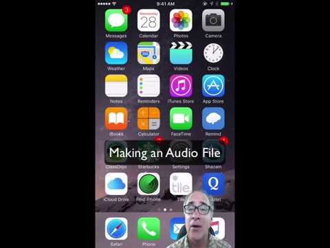 How to make an audio file with a smart phone