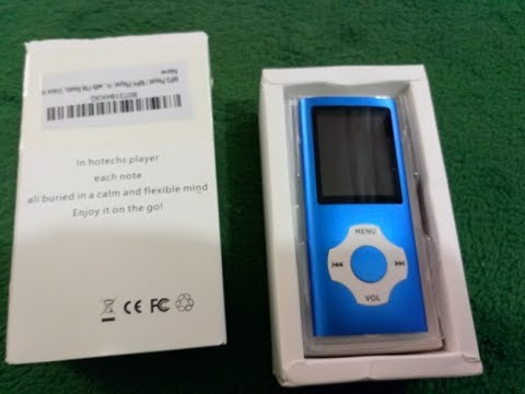 MP3 Player MP4 Player, Hotechs MP3 Music Player with 16GB Memory SD card Slim Classic Digital LCD 1