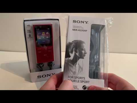 The Red Sony MP3 Walkman- NW-E394. Part 1 - (Unboxing And Transferring Music)