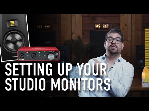 How to Setup Your Studio Monitors (With an Audio Interface) | ADAM Audio