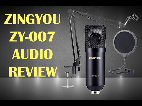 Zingyou ZY-007 Condenser Microphone Audio Review and Unboxing