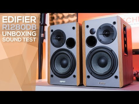 Edifier R1280DB Unboxing, Quick Review, and Sound Test