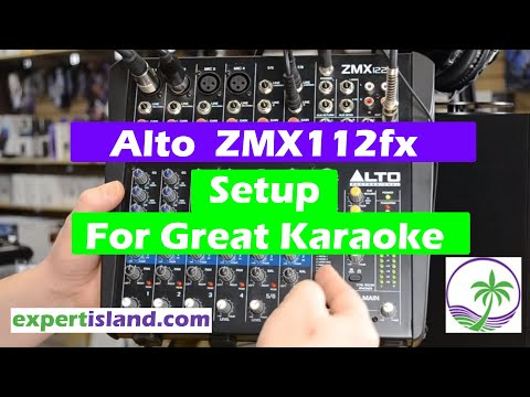 Setting up the Alto ZMX122fx Audio mixer for Karaoke and how to work the FX