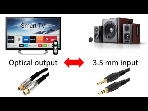 How to connect external speakers to a TV with optical output