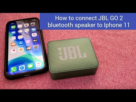 How to connect JBL GO 2 bluetooth speaker to Iphone 11