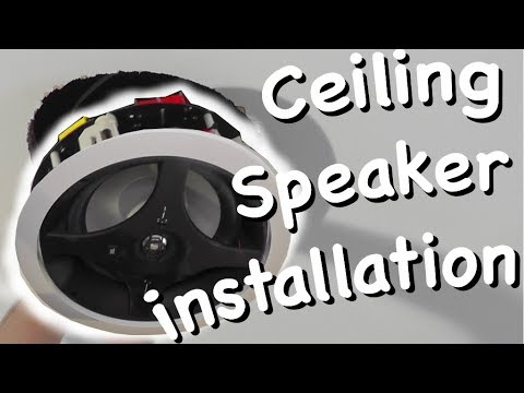 How to install in-ceiling speakers