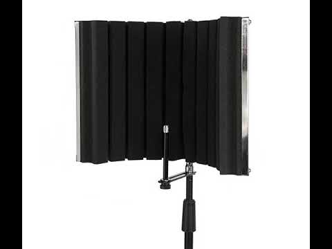 LyxPro VRI-30 Portable & Foldable Sound Absorbing Vocal Recording Panel Stand Mount