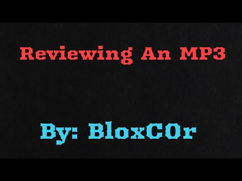 My First Review Video Ever!!!!! (SOULCKER MP3 PLAYER)