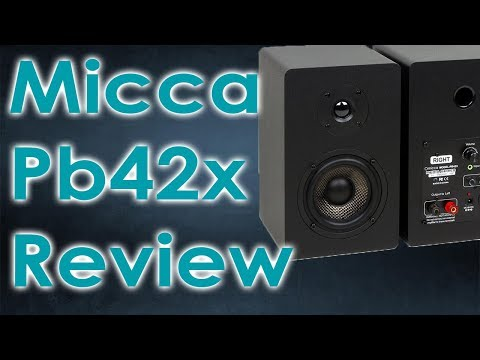 Micca PB42X | Powered Bookshelf Speaker Review | Under $150 | (They are awesome!)