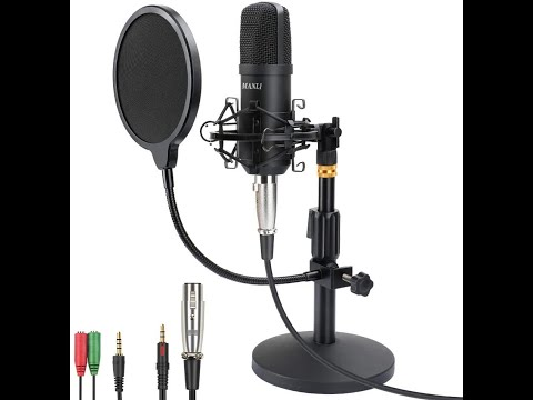 Manli Professional Studio Condenser Microphone Sound Test and Unboxing GoPro Hero 9 Sound Test