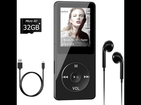 """MP3 Player, Aigital Portable MP3/MP4 Music Player with 1.88"""" Screen"""